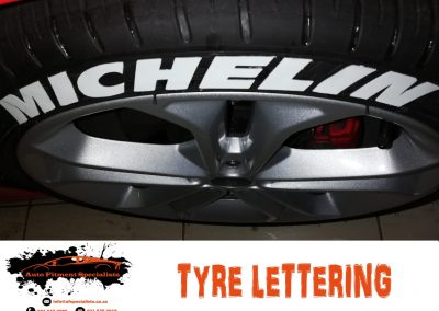 Auto Fitment Specialists Tyre Lettering